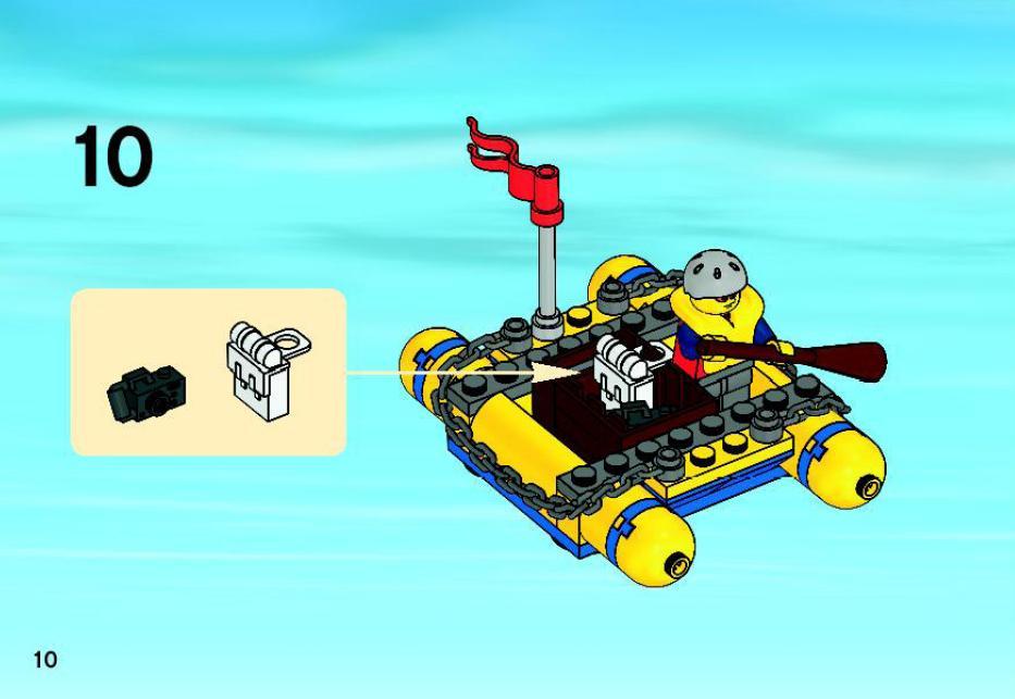 lego city coast guard helicopter instructions