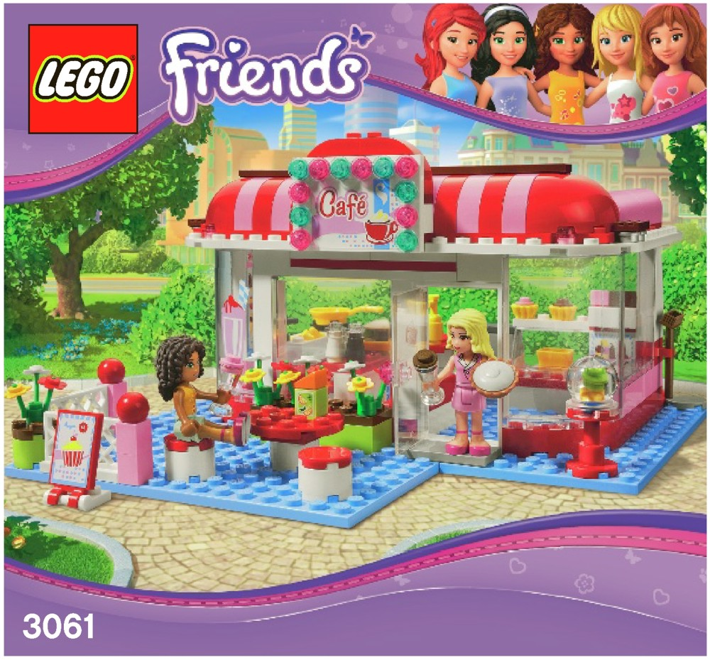 LEGO City Park Cafe Instructions 3061, Friends