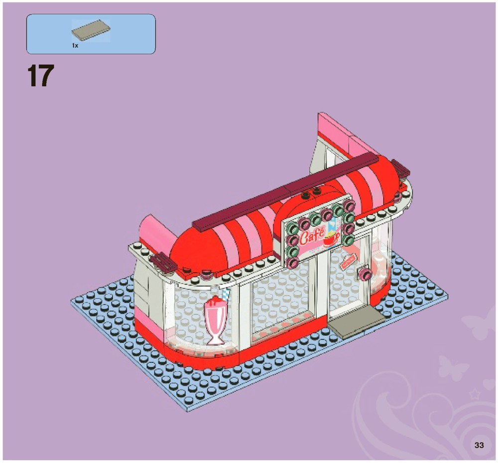 Lego Friends Park Cafe Instructions