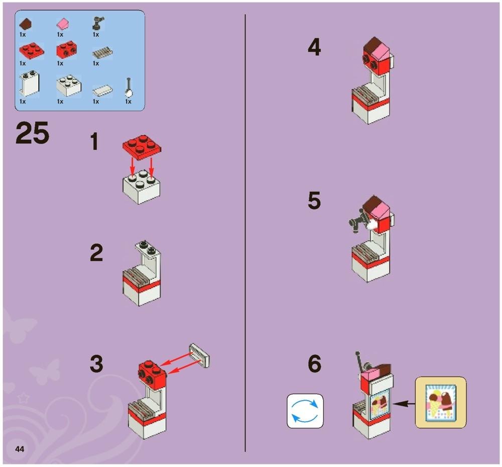 Lego Friends Instructions Lego City Park Cafe Instructions 3061