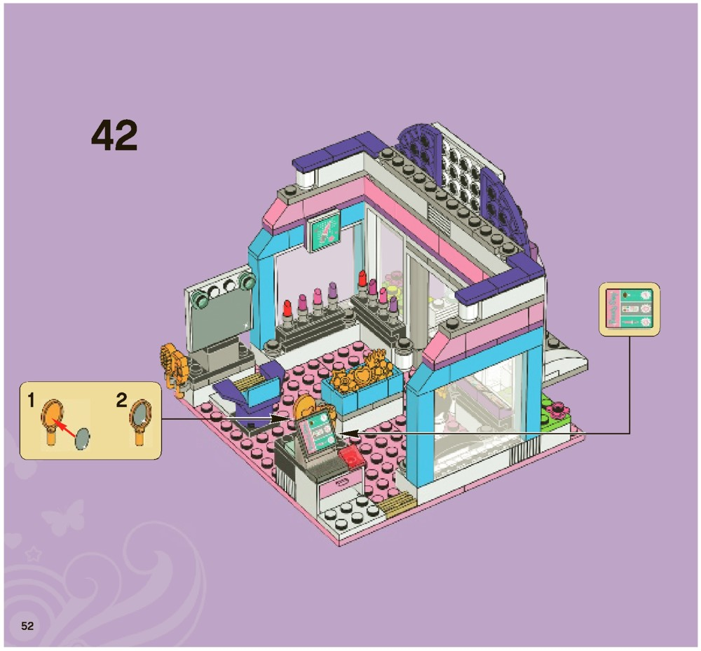 lego friends butterfly beauty shop instructions