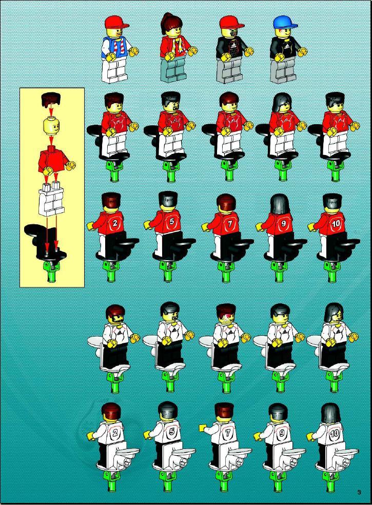 Lego Grand Soccer Stadium Instructions 3569 Sport