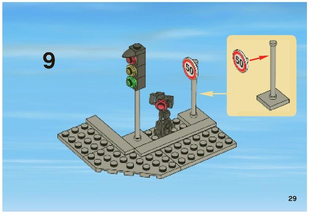 lego city police chase instructions