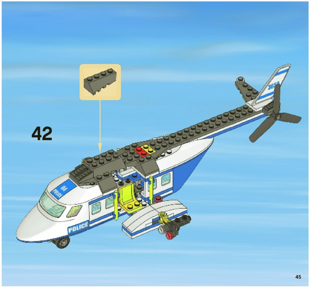 how to build lego city helicopter