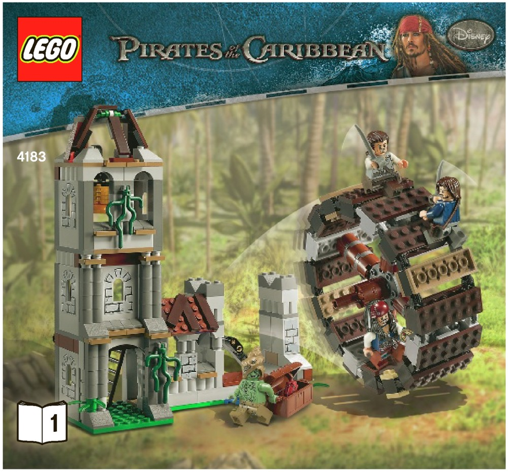lego the mill instructions 4183 pirates of the caribbean. Black Bedroom Furniture Sets. Home Design Ideas