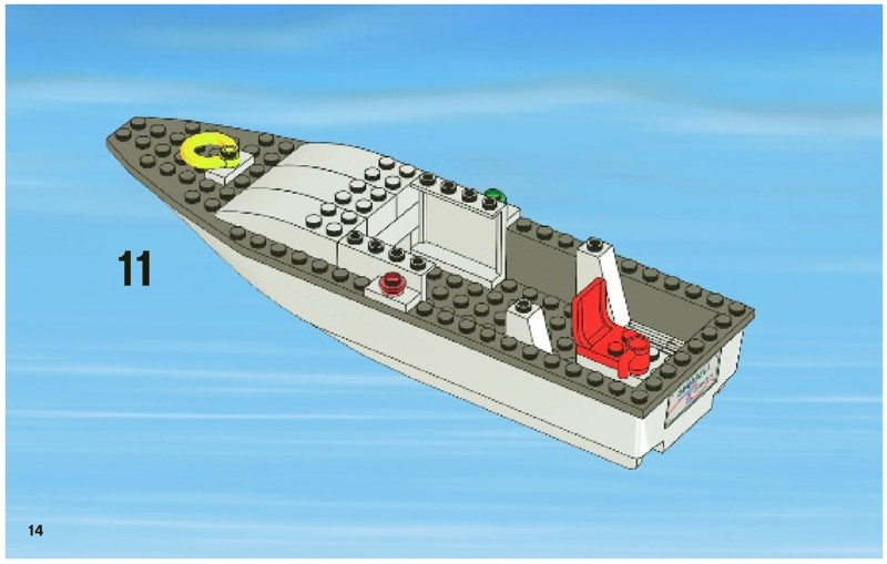 Lego fishing boat instructions 4642 city for How to ship fish