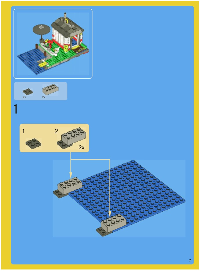 Lego Creator Island Instructions