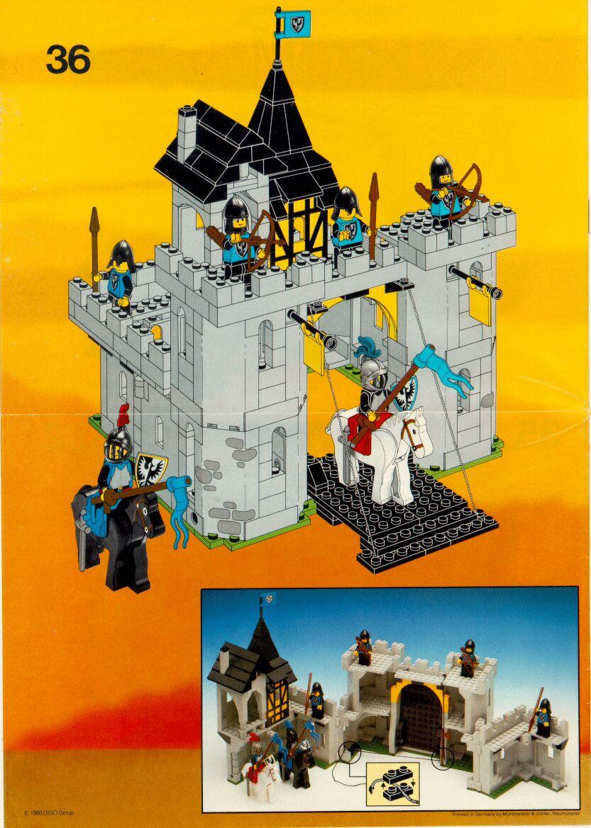 lego black falcons fortress instructions 6074 castle. Black Bedroom Furniture Sets. Home Design Ideas
