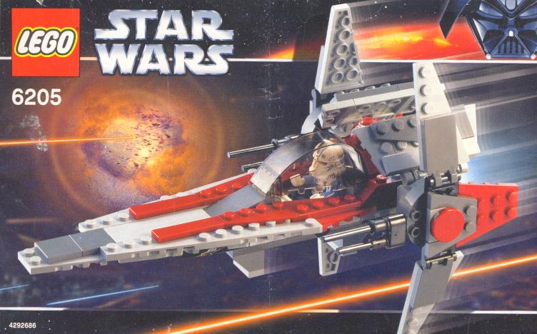 Lego V Wing Fighter Instructions 6205 Star Wars Episode 3