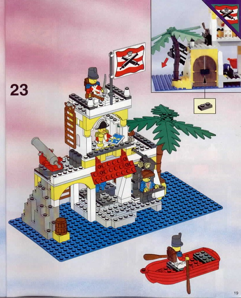 lego imperial outpost instructions 6263 pirates. Black Bedroom Furniture Sets. Home Design Ideas