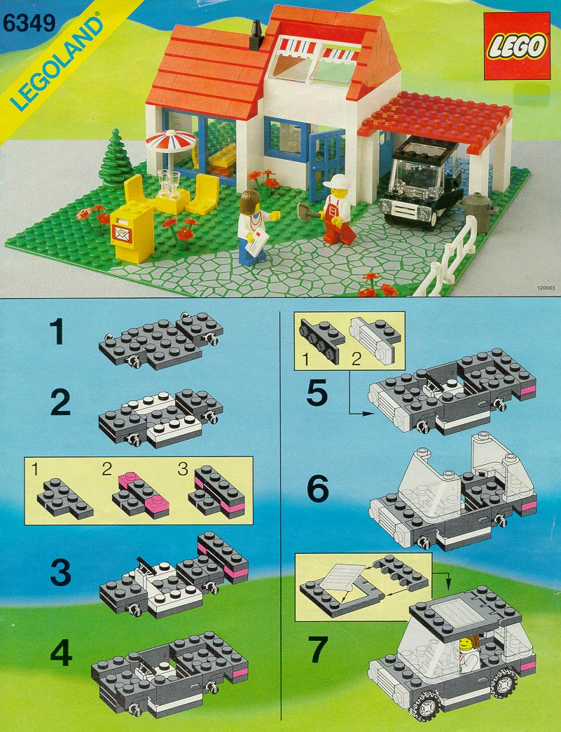 lego holiday villa instructions 6349 city. Black Bedroom Furniture Sets. Home Design Ideas
