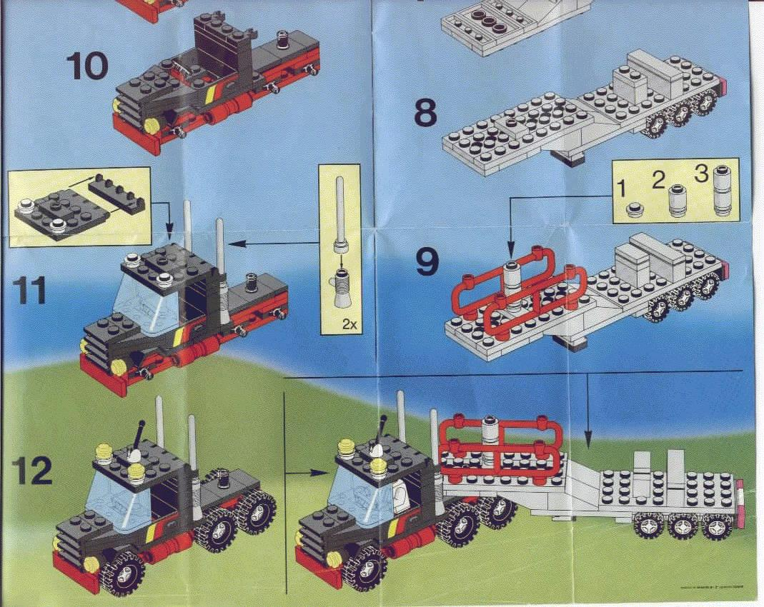 lego stunt 39 copter and truck instructions 6357 town. Black Bedroom Furniture Sets. Home Design Ideas