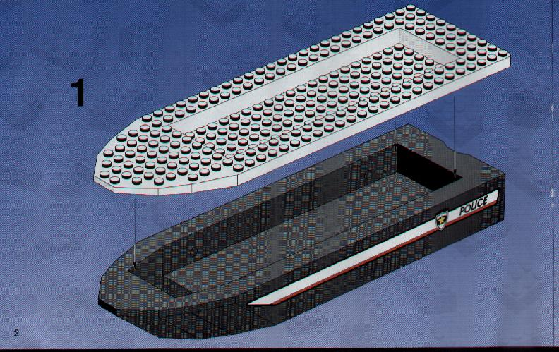 lego city police boat instructions