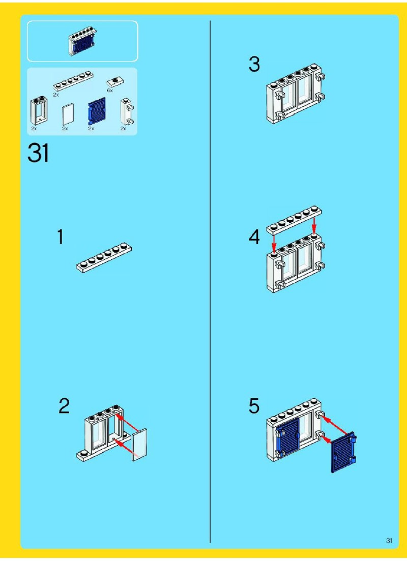 lego creator family home instructions