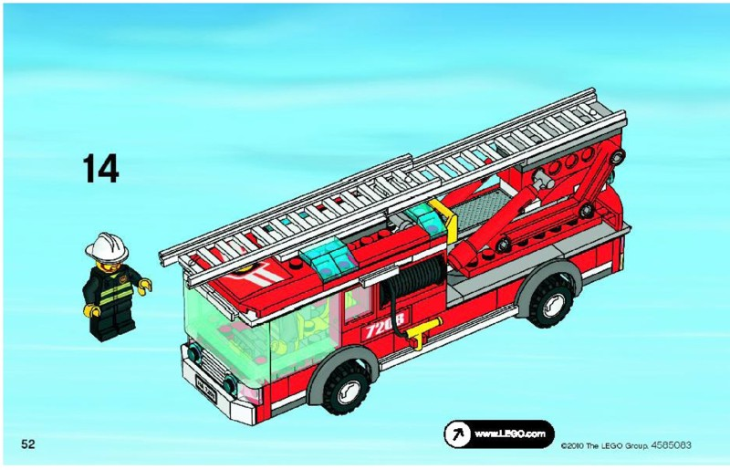 lego fire station instructions