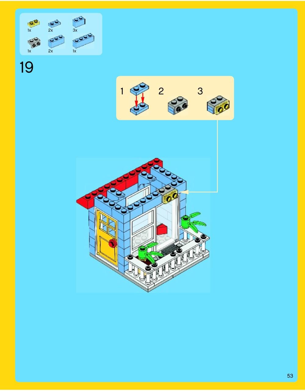 lego seaside house instructions