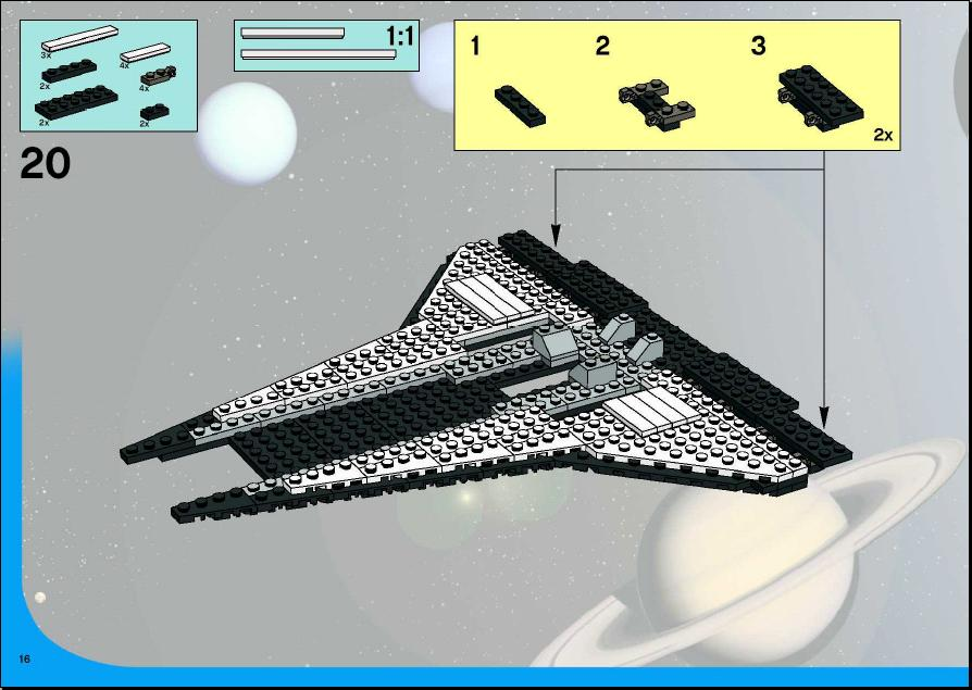 instructions for lego space shuttle
