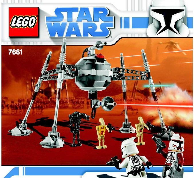 Lego Homing Spider Droid Instructions 7681 Star Wars