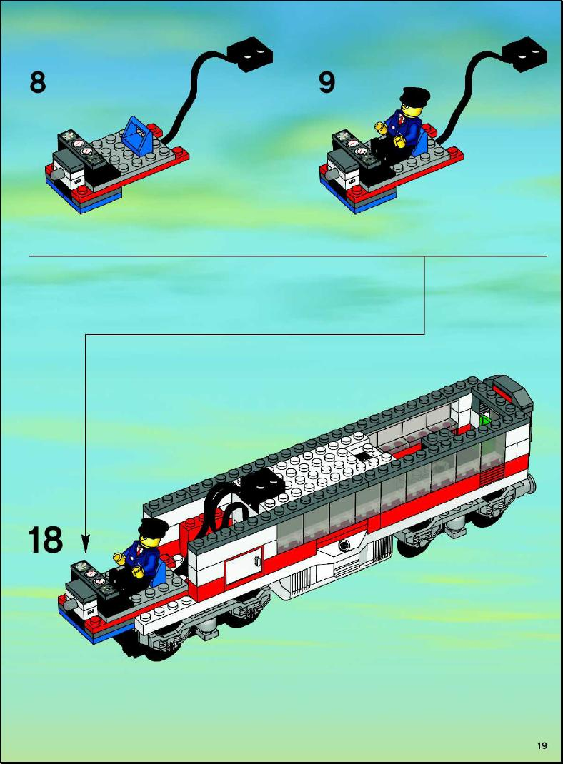 lego city passenger train 7897 wwwimgkidcom the