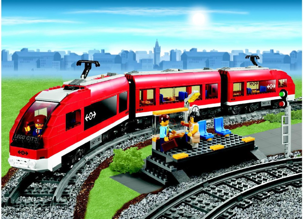 Lego City Passenger Train 7938 LEGO Passenger Train I...