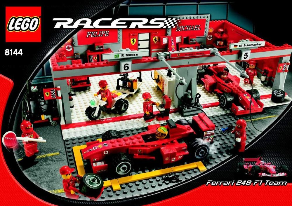 Lego Ferrari F1 Team Instructions 8144 Racers