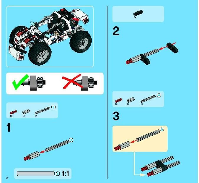lego technic quad bike instructions