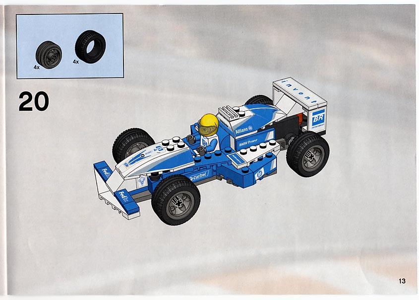 lego williams f1 car instructions 8374 racers. Black Bedroom Furniture Sets. Home Design Ideas