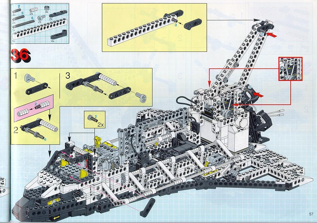 lego technic space shuttle parts list - photo #21