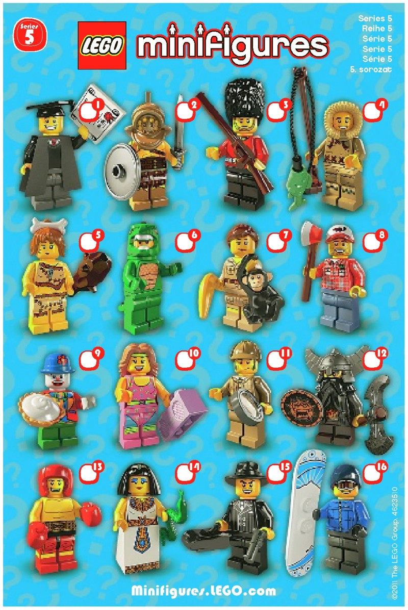 Lego Lego Minifigures Series 5 Instructions 8805 Mini Figures