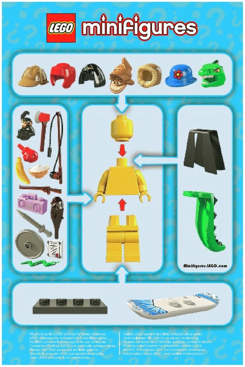 Lego Lego Minifigures Series 5 Instructions 8805 Mini Figures