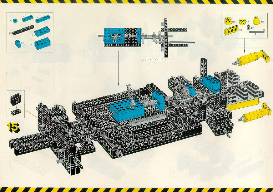 LEGO Car Chassis Instructions 8860, Technic