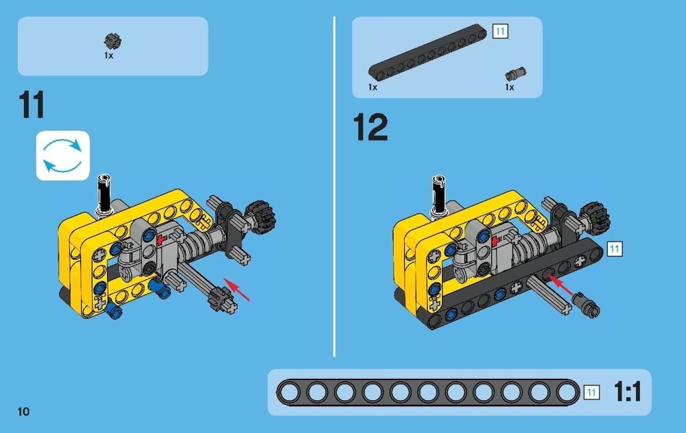 lego technic crane instructions