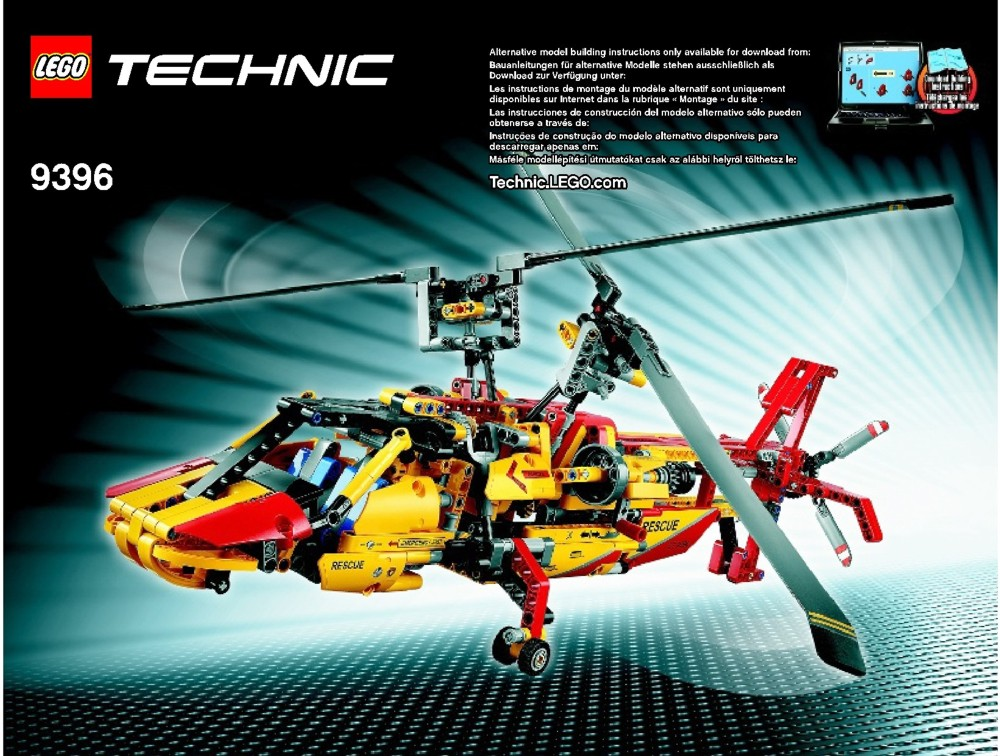 lego helicopter instructions 9396 technic. Black Bedroom Furniture Sets. Home Design Ideas