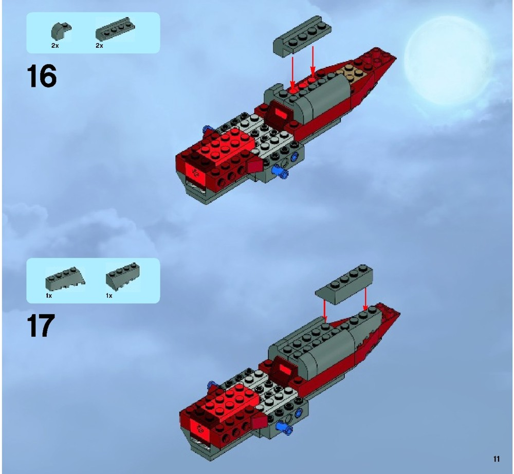 lego monster fighters ghost train instructions