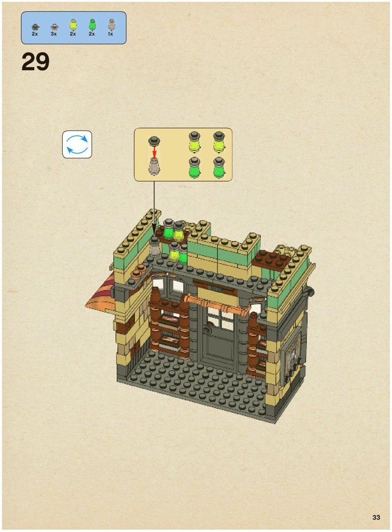 lego diagon alley instructions