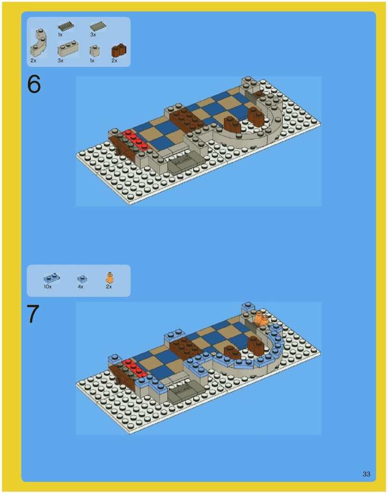 lego winter village post office instructions