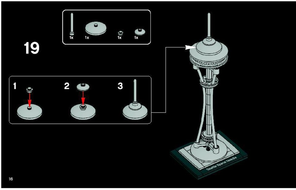 Lego Space Needle Building Instructions