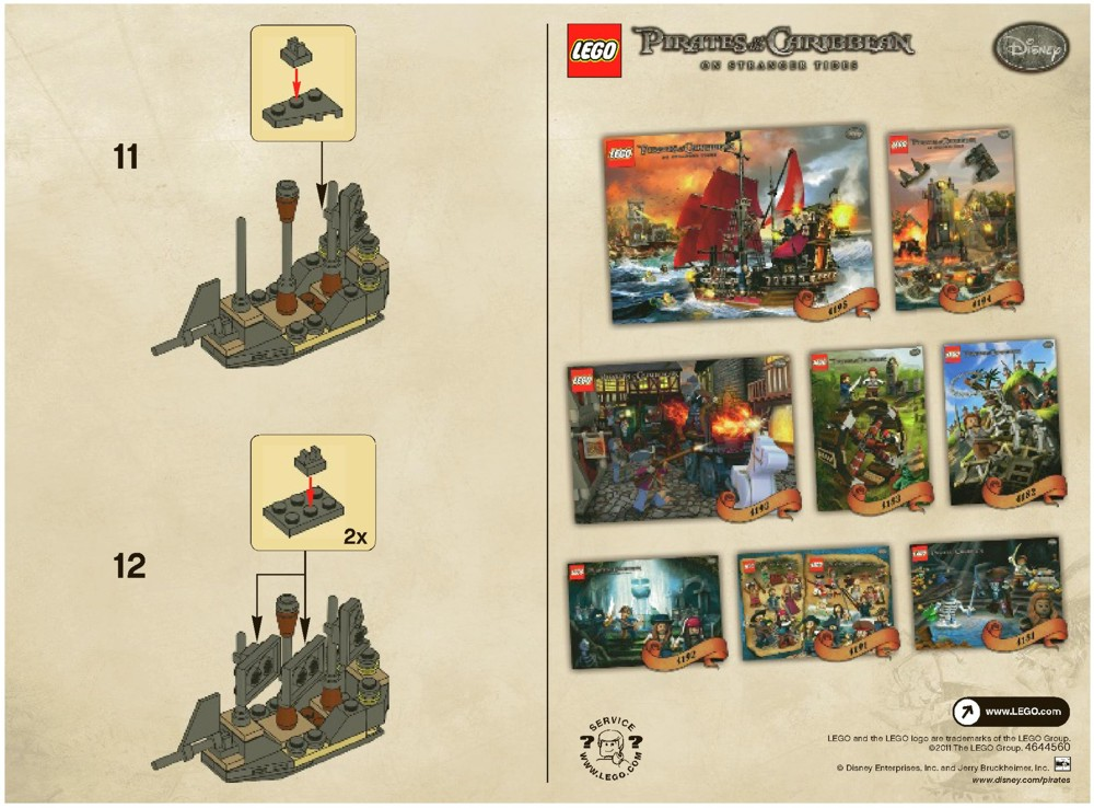 Lego Mini Black Pearl Instructions 30130 Pirates Of The