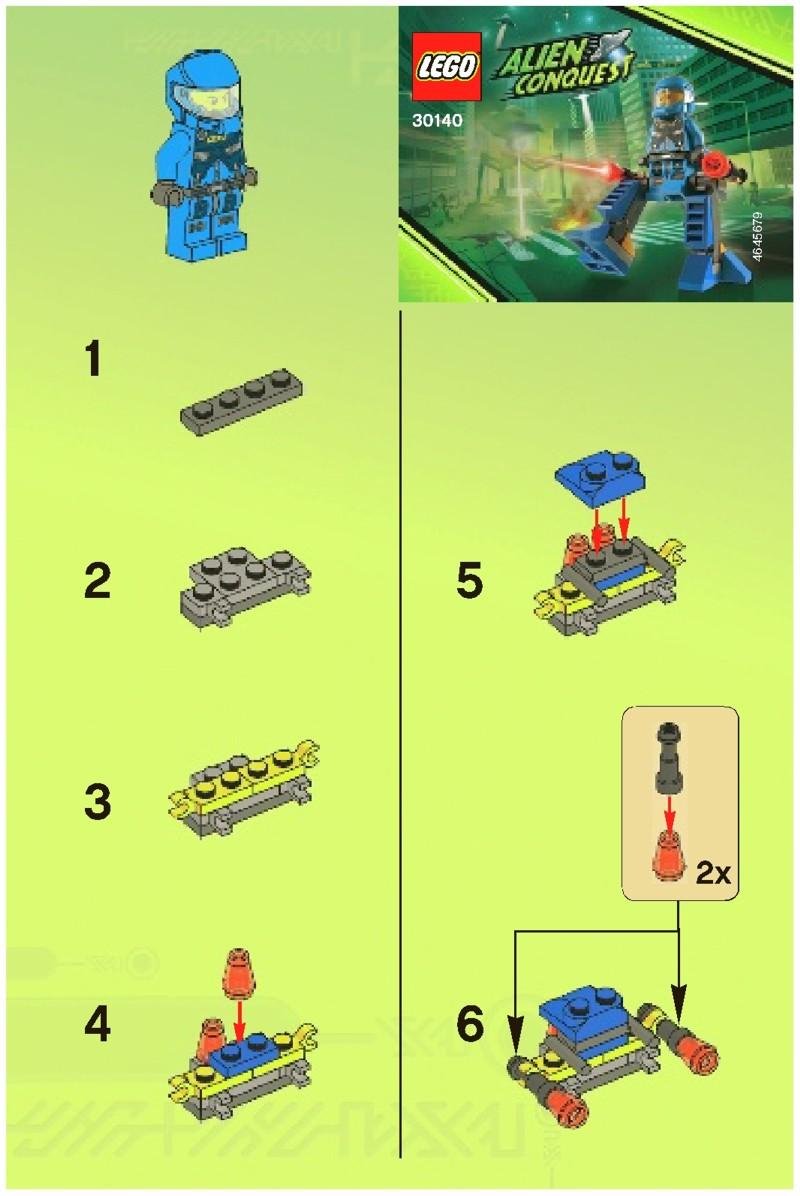 lego alien conquest alien striker instructions