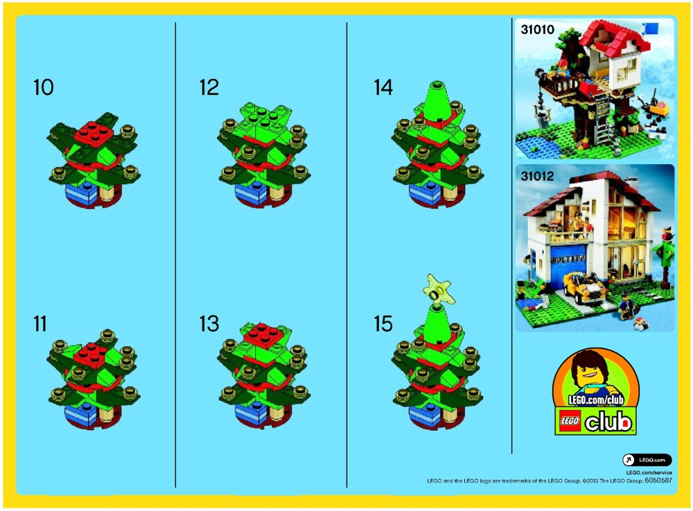 LEGO Christmas Tree Instructions 30186, Creator