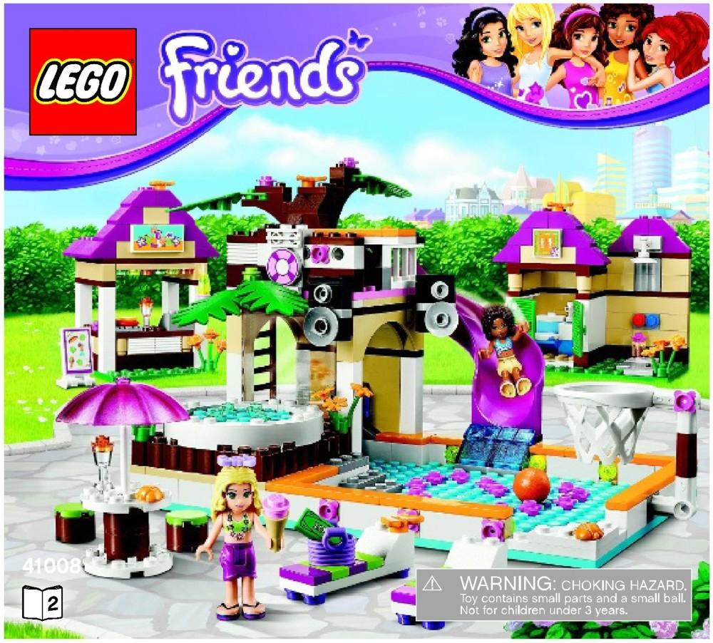 LEGO Heartlake City Pool Instructions 41008, Friends