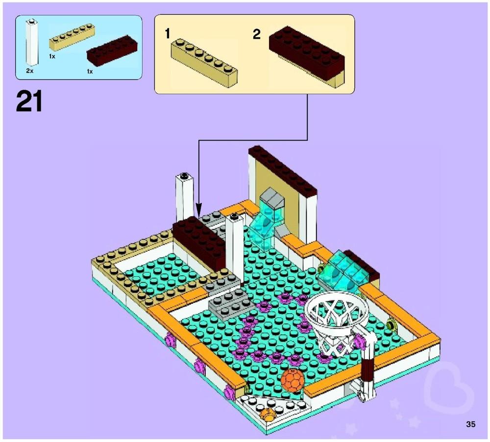Lego Friends Heartlake City Pool Instructions My Lego Style Lego