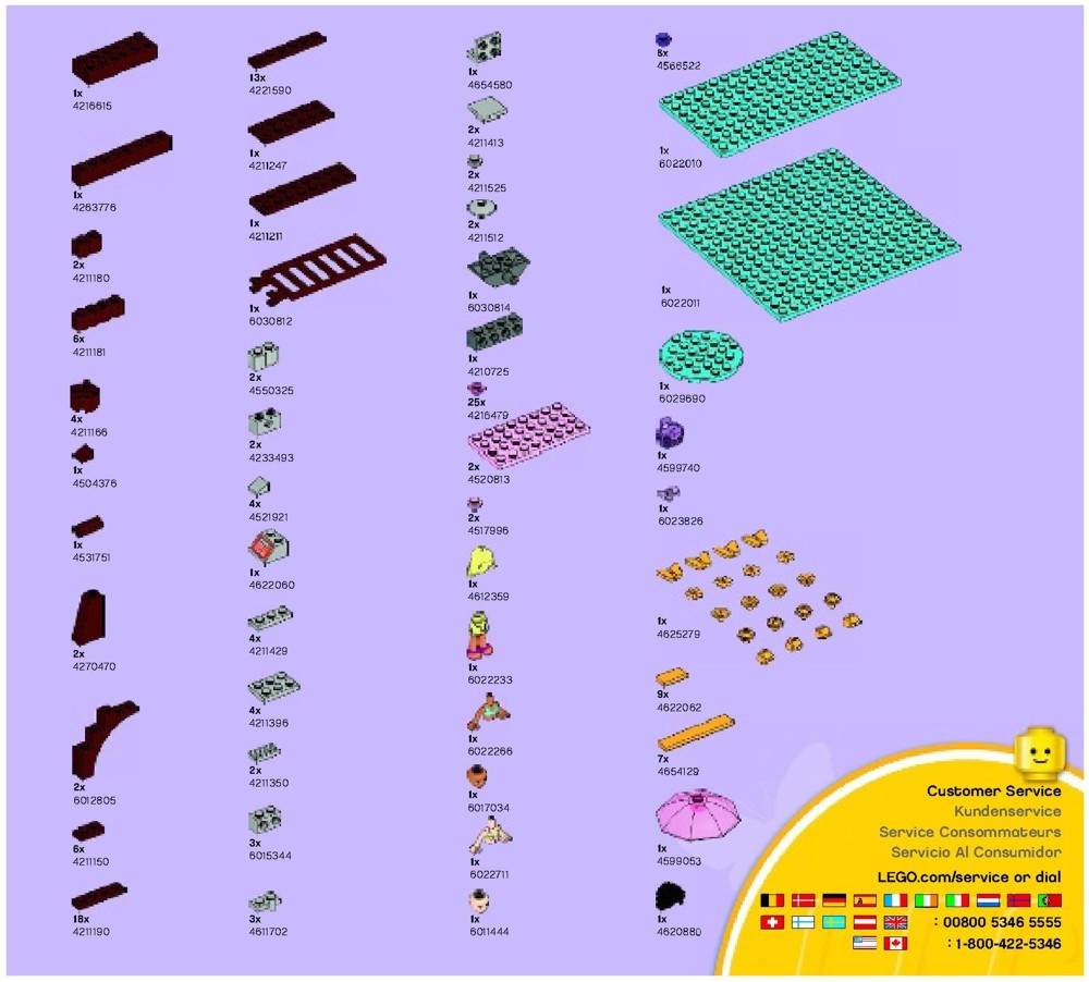 lego friends 41008 instructions