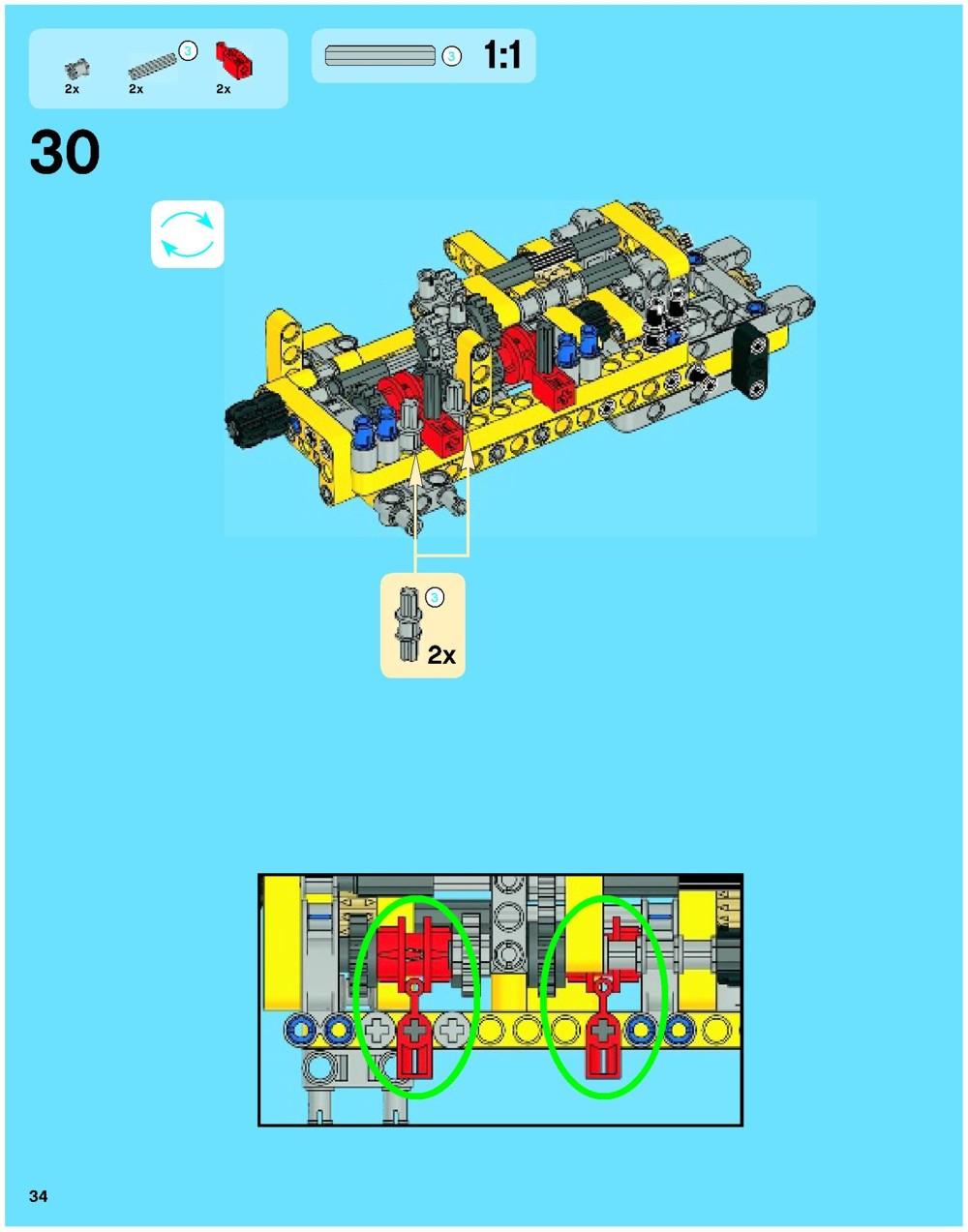 lego technic excavator instructions