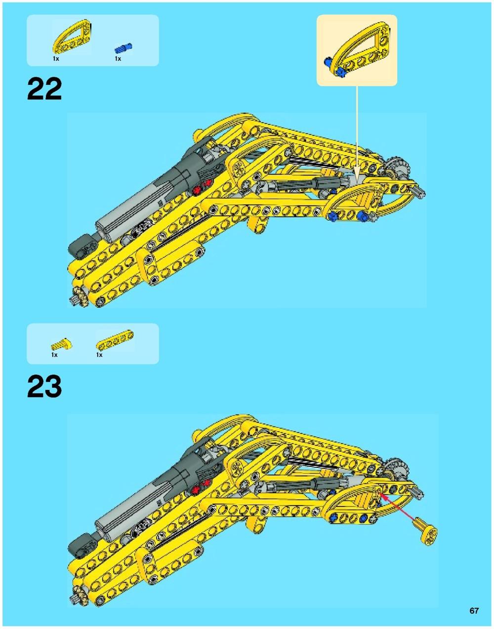 lego technic excavator 42006 instructions