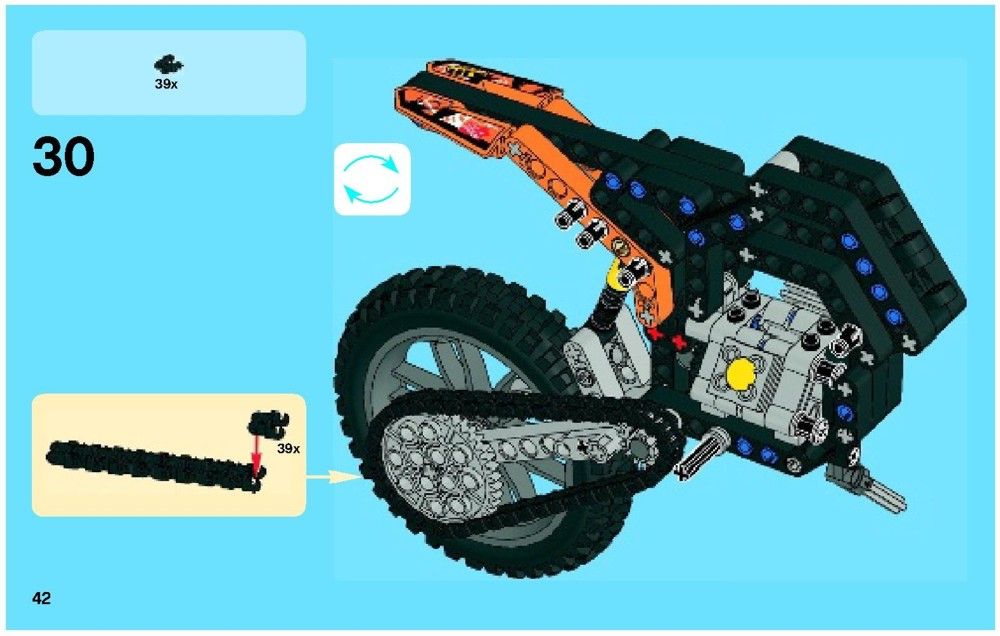 lego moto cross bike instructions 42007 technic. Black Bedroom Furniture Sets. Home Design Ideas