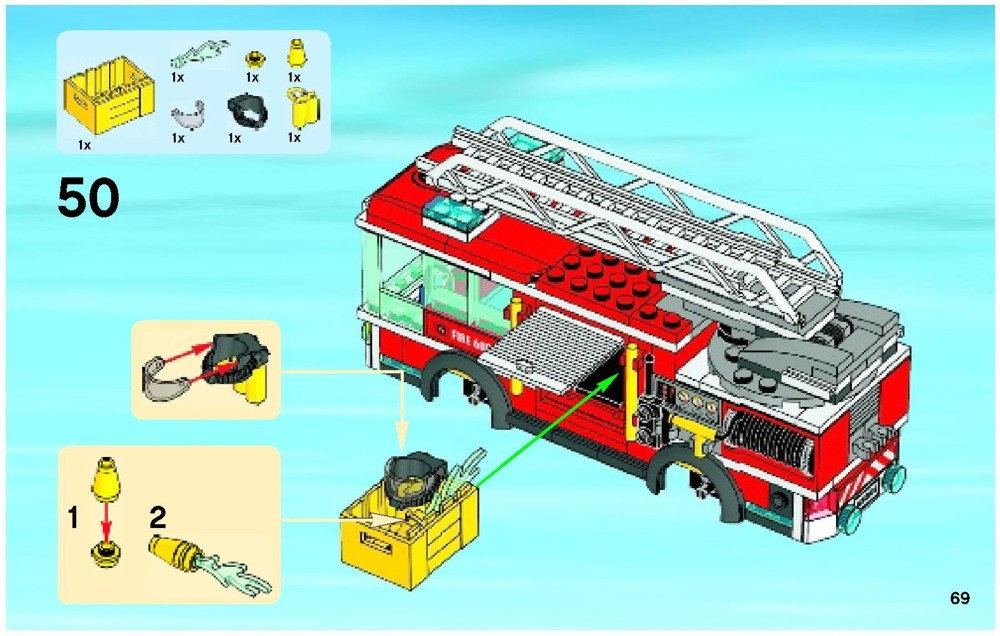 lego fire truck instructions 60003