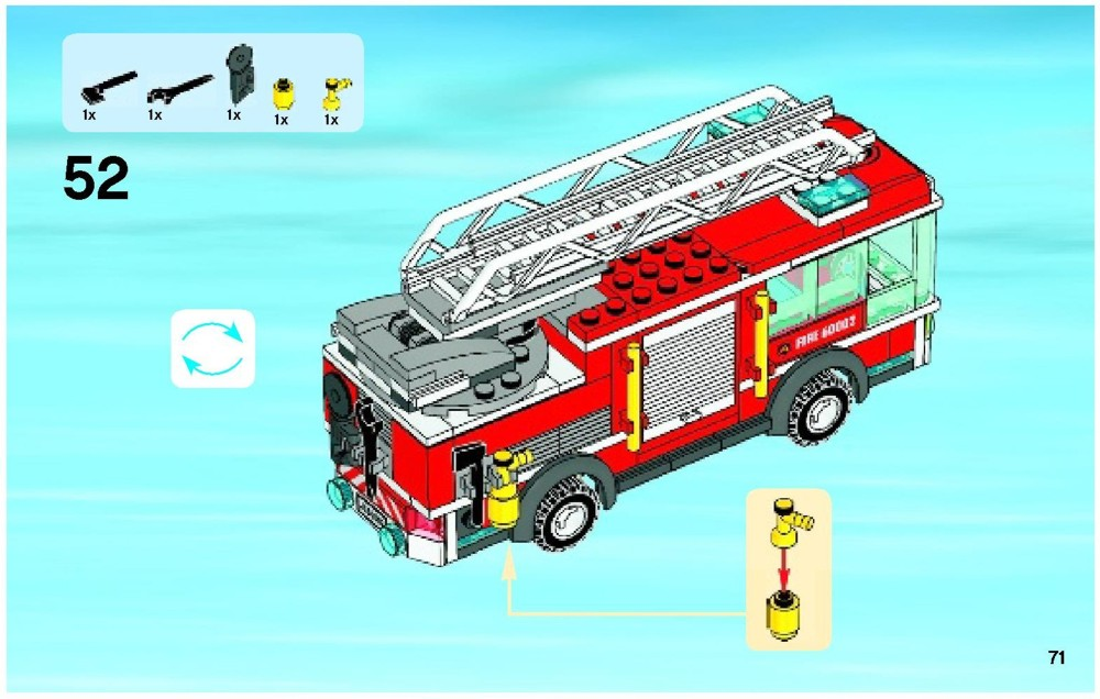 lego city truck instructions