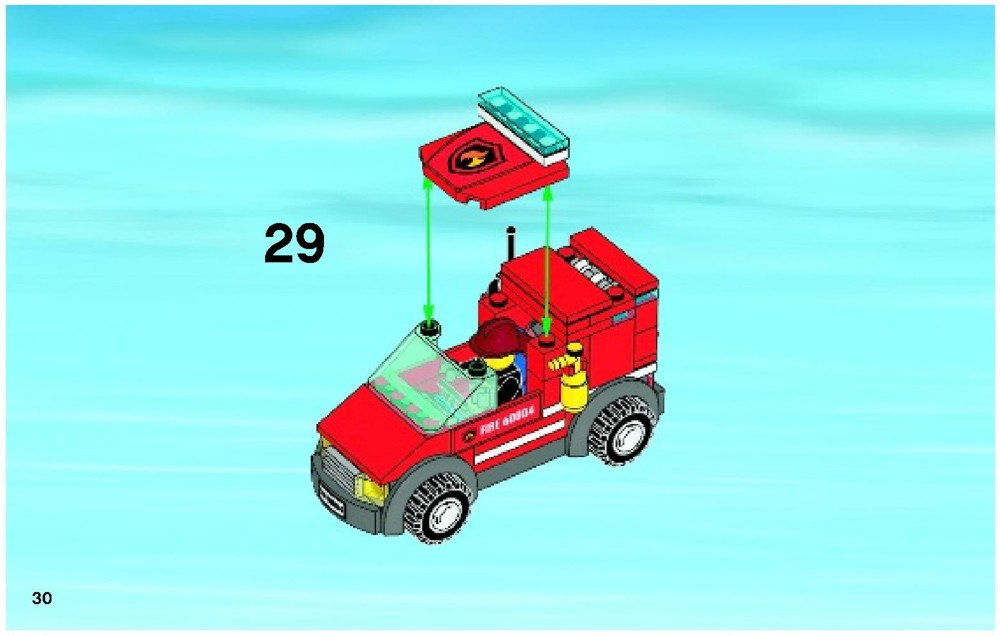 Lego City Fire Station 60004 Building Instructions