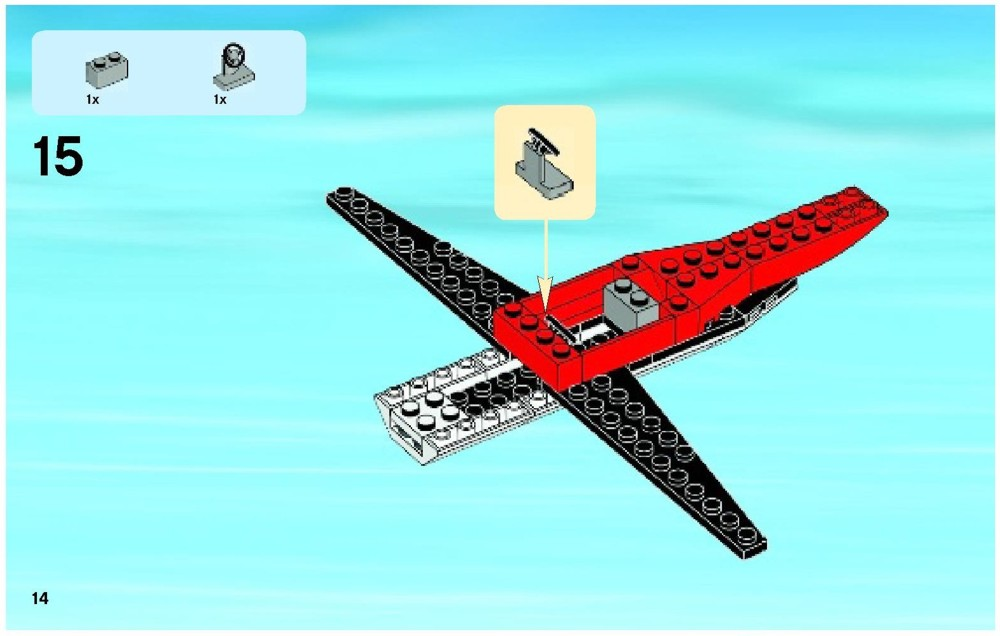 how to build a lego plane instructions